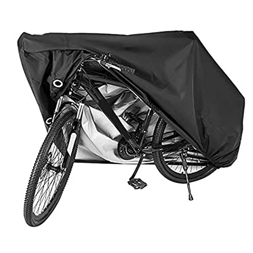 Bike Cover, Bicycle Cover with Pu Coating Wind Waterproof Proof with Lock Hole, Bike Accessories Cover for Mountain Road Electric Bike