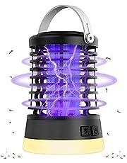 Grust Uv-campinglamp, 3-in-1 draagbare campinglamp, IPX6 waterdichte muggenlamp, USB-oplaadbaar, campinglantaarn met haak voor binnen en buiten, 14,3 x 9,8 cm