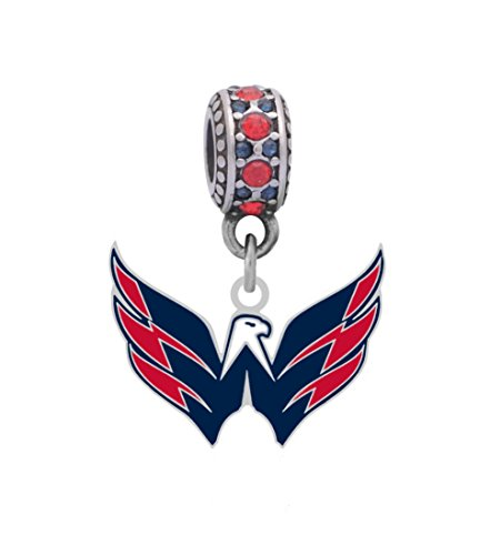 Final Touch Gifts Washington Capitals Charm Fits Compatible with Pandora Style Bracelets