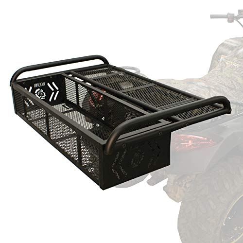 Kolpin 53350 ATV Rear Drop Rack Basket Convertible 3-in-1, Black, 43' l x 31' w x 10' h