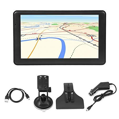 Navegación GPS, Navegador de Coche con Pantalla táctil capacitiva portátil HD de 7 Pulgadas DDR256M Navegación GPS FM de 8 GB (Mapa Europeo)