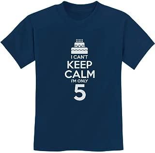 TeeStars - Birthday Cake - I Can't Keep Calm I'm 5 Children's Cute Kids T-Shirt