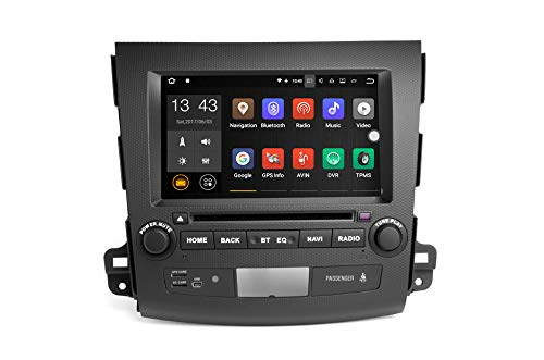 TOOPAI autoradio Android 7.1 | navigatiesystemen voor Mitsubishi Outlander 2006 2007 2008 2009 2010 2011 2012