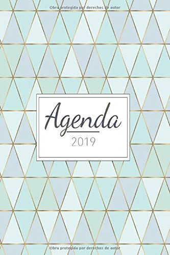 Agenda 2019: Organiza tu día - Agenda semanal 12 meses - 1...