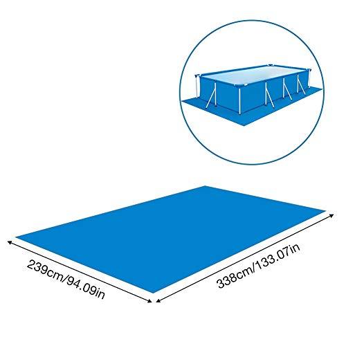 N/X 338x239CM Rechteckige Schwimmbadabdeckung Schwimmbadmatte Faltbarer Teppich aus Polyester-Bodentuch