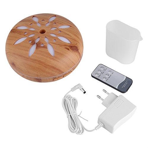 Aroma Oil Diffuser 220V 550ML Ultraschall Luftbefeuchter mit Fernbedienung und 7 Farb LED Leuchten für Home Office Baby Room Spa Yoga(Gelb)