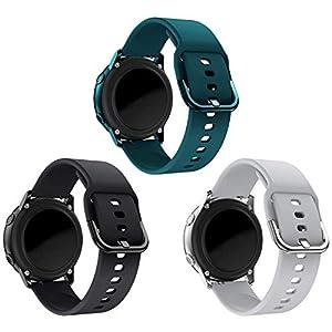 kitway Correa Compatible Galaxy Watch Active/Active2/Galaxy Watch 42mm/Gear S2 Classic, Silicona Replacement Correa para Galaxy Watch 3 41mm/Galaxy Watch Active (40mm)/Active 2 40mm 44mmSmart Watch