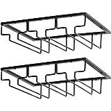 ワイングラス ホルダー ラック セット 収納 家庭 業務用 - ゴブレットホルダーに適しています(3列) (2pcs)