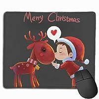 メリークリスマス マウスパッド 25×30 大判 ノンスリップ 防水 ゲーミング おしゃれ マウスの精密度を上がる