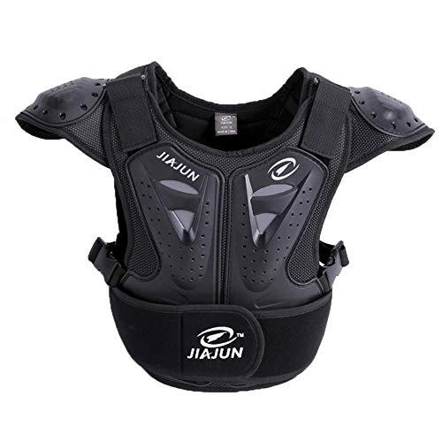 Sooiy Kinder Motorrad Weste Brustpanzer,Sleeveless RüstungWeste Schutz,Schutzausrüstung,Hockey Knight Gear Motorbike Jackets,M