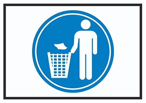 HB-Druck Bitte Abfalleimer benutzen Symbol Schild A0 Rückseite selbstklebend