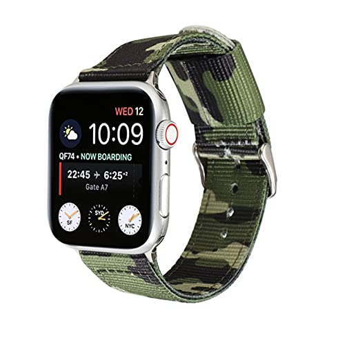 Correa de camuflaje para Apple Watch Band 44 mm 40 mm iWatch Band 42 mm 38 mm Correa deportiva de silicona para Apple Watch SE 6 5 4 3 2 1