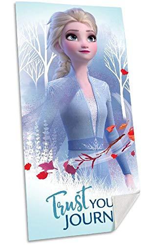 Disney Frozen 2 algodón Referencia KD Playa lavarse la Cara-Toallas Textiles del hogar Unisex Adulto, Multicolor (Multicolor), única