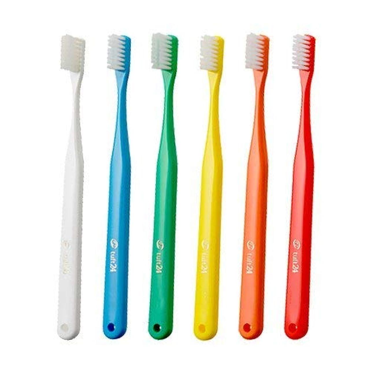 アトミック谷自発的オーラルケア キャップなし タフト24 歯ブラシ × 10本 (M)