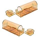 Trampas de ratón de la jaula, Roedor Trampa reutilizable Easy Set reutilizable inteligente Pequeño Trampa de los ratones de plástico Trampa interior al aire libre de pequeño roedor del ratón Los