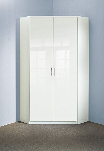 Beauty.Scouts Eck-Kleiderschrank Boca rinco Kleiderschrank, Hochglanz weiß, 120x120cm