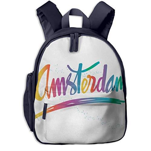 Kinderrucksack Kleinkind Jungen Mädchen Kindergartentasche Beschriftung Farbübergänge Spritzer Backpack Schultasche Rucksack