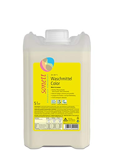 Waschmittel Color: Duft von Bio-Minzöl und Bio-Lemongrassöl, 100{b59688e9dbd205163d5741f92600fa058377fb60fc8156bc41bc26360853af16} biologisch abbaubar