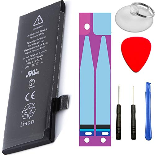TY Top Europe Kit - iPhone 5S Batería Interna de Li-Ion con 1560 mAh Carga Rápida Compatible con iPhone 5S con Kit de Herramientas Y Pegatinas Incluido