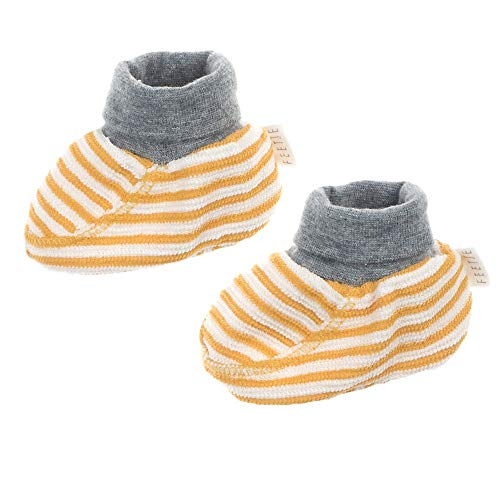 Feetje Baby Baumwollschuhe I'm new here, Größe:0 Monate, Farbe:Gelb