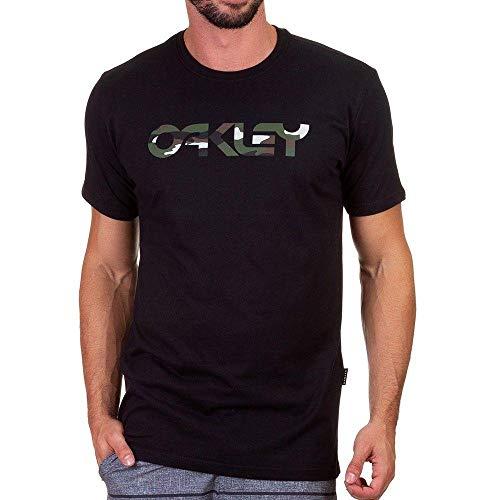 Camiseta Oakley Tee Blackout Cor:Preto;Tamanho:P