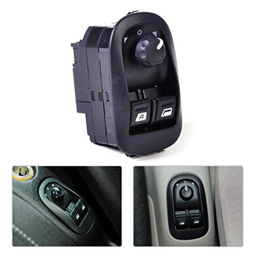 6554. WA Fit for Peugeot 206 Regulador de Ventana eléctrico cambio clave conductor interruptor de botón negro nueva energía eléctrica ventana lateral