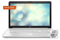 HP 17-by3099ng / 17-by3235ng (17,3 Zoll / HD+) Laptop (Intel Core i3-1005G1 dual, 8GB DDR4 RAM, 512GB SSD, Intel UHD Grafik, Windows 10) silber