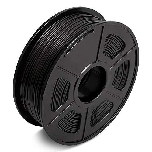NLLeZ 1pc PLA Filament 1kg 1.75mm Coffee Color Diameter Tolerance 0.02mm FDM 3D Printer Material 2.2 LBS No Bubble Filaments For 3D Pen (Color : Black)