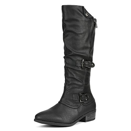 DREAM PAIRS Women's Parkar Black Winter Knee High Boots Size 9.5 B(M) US