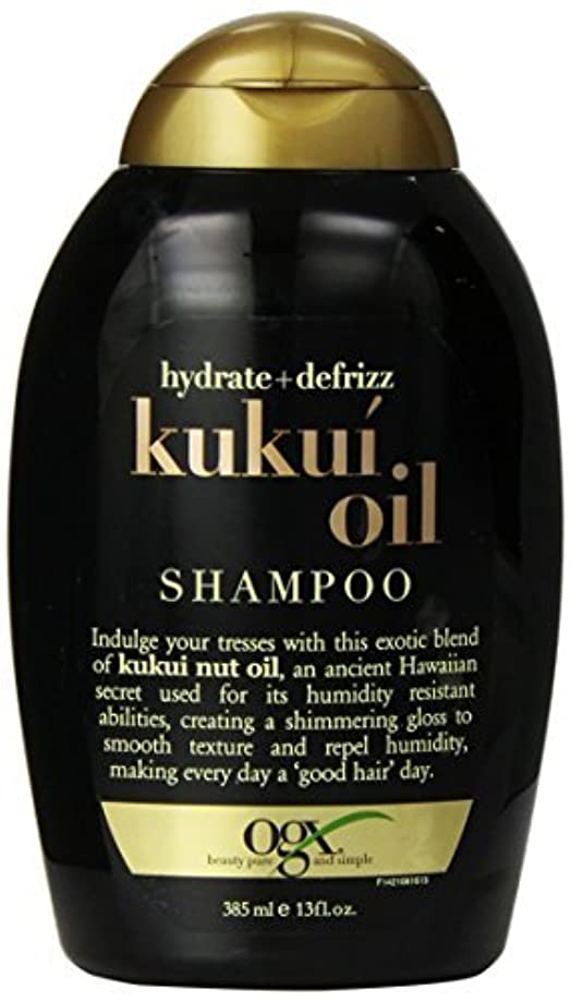 賞賛する葉砦OGX Kukui Oil Shampoo, Hydrate Plus Defrizz, 13 Ounce [並行輸入品]