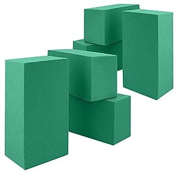 6pcs Wet Floral Foam Bricks Green Styrofoam Blocks for Fresh or Artificial Flowers Arrangement and Wedding Holiday Decorations  9 L x 2.8 W x 4.3  H
