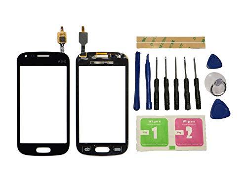 Flügel para Samsung Galaxy Trend Plus S7580 S7582 Pantalla de Cristal Táctil Touchscreen Glass Display Negro( Sin LCD)de Recambio & Herramientas
