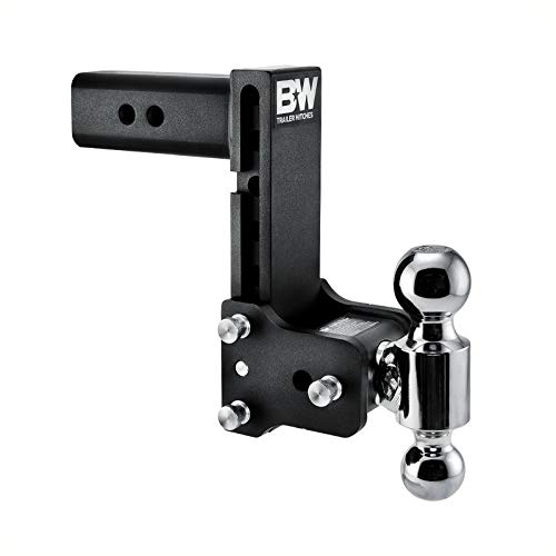 """B&W Trailer Hitches Tow & Stow Double Ball Hitch 2 5/16"""" x 2"""" Balls with 2.5"""" Shank 7"""" Drop or 7 1/2"""" Rise"""