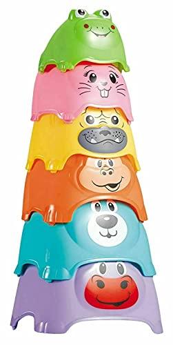 HOVUK Animal apilando las tazas de apilamiento 6pcs diversión y la actividad educativa juguete preescolar para niños 6+meses