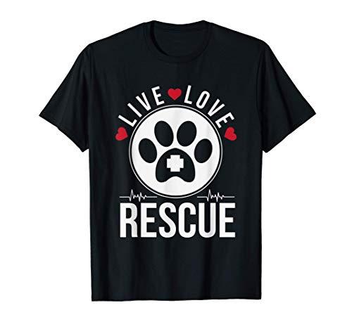 Live Love Rescue Animal Adoption Pet T-Shirt