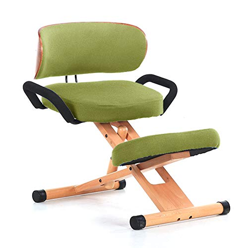Meet World Kneeling Chair with Orthopedic Back Pain Seat, Manual Adjust, Helps Prevent Coccyx Pain, Kneeling Chair for Better Posture,1