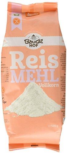 Bauckhof Reismehl Vollkorn 500 g Demeter gf (1 x 500 g)