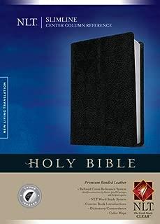 Slimline Center Column Reference Bible NLT (Red Letter, Bonded Leather, Black, Indexed)