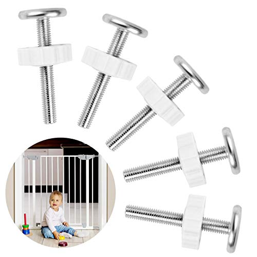Treppengitter Schraubenersatz 5pcs M10 Kindergitter Druckschrauben treppenschutzgitter Gewindespindelstangen Schrauben Kit für haustiergitter