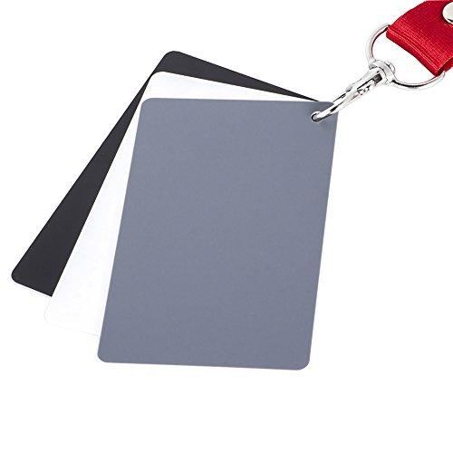 Macolink White Balance Grey Cards 18% Gray Cards Custom Color Calibration DSLR/SLR/EVIL Camera Checker for Digital Photography Video (3.35' X 2.2')