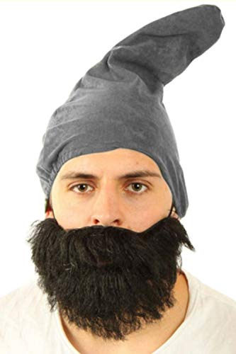 Marco Porta Gnome Hat Adult Gnome Gnome Costume Accessory Headpiece (Grey)