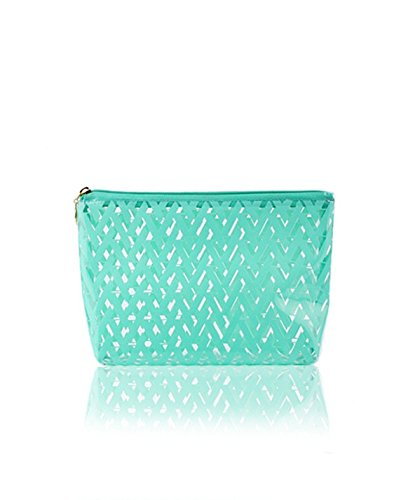 DAYAN PVC impermeabile sacchetto cosmetico Organizzatore Sacchetto Cosmetico Portatile Pratica trasparente Borsa Viaggi color verde