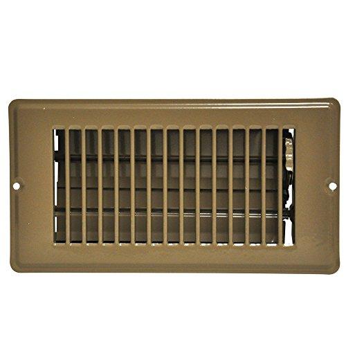 DANCO Louvered Steel Floor Register, Brown, 4x8-Inch with 1-5/16 Inch Drop, 1-Set (61799)