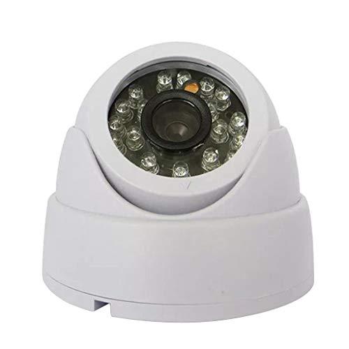 B Blesiya 1200TVL Cámara de Seguridad Tipo Domo, Visión Diurna Y Nocturna 24 LED IR Al Aire Libre, Interior, Resistente a La Intemperie, Lente Gran Angular de 4