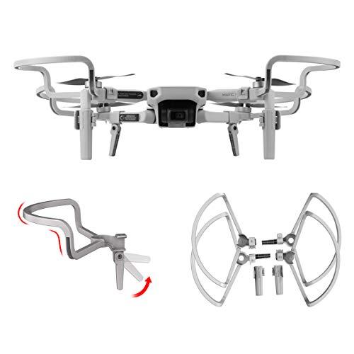 O'woda Protectores hélices Drone + Extensores Patas para Carro de aterrizaje Plegables...