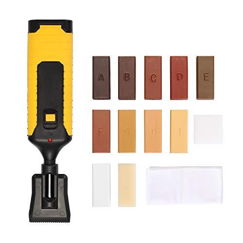 Kecheer Kit de reparación para laminado/Piso/Azulejos,Juego de herramientas de reparación de rasguños suelo laminado