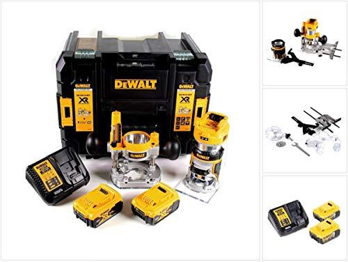 DEWALT DCW604P2-QW DCW604P2-QW-Fresadora Combo sin escobillas XR 18V Li-Ion 5,0Ah