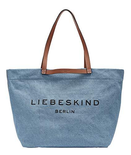 Liebeskind Berlin Aurora Shopper, blue denim , Large (HxBxT 3.0 cm x 2.0 cm x 1.0cm)