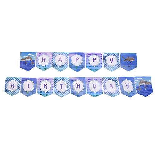 Dolphin Party Jointed Banners, Dolphin Party Supplies, Dolphin Party Birthday Banner