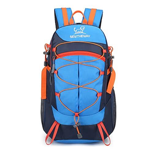 LZJDS Montañismo al Aire Libre Bolsa de Viaje Casual Hombres Mujeres Mochila Mochila Camping Daypack Impermeable Bolso Durable,Azul